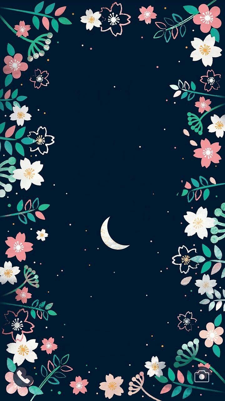 Night Sky Moon Stars Blue Cool Wallpaper Tumblr Lock Screen