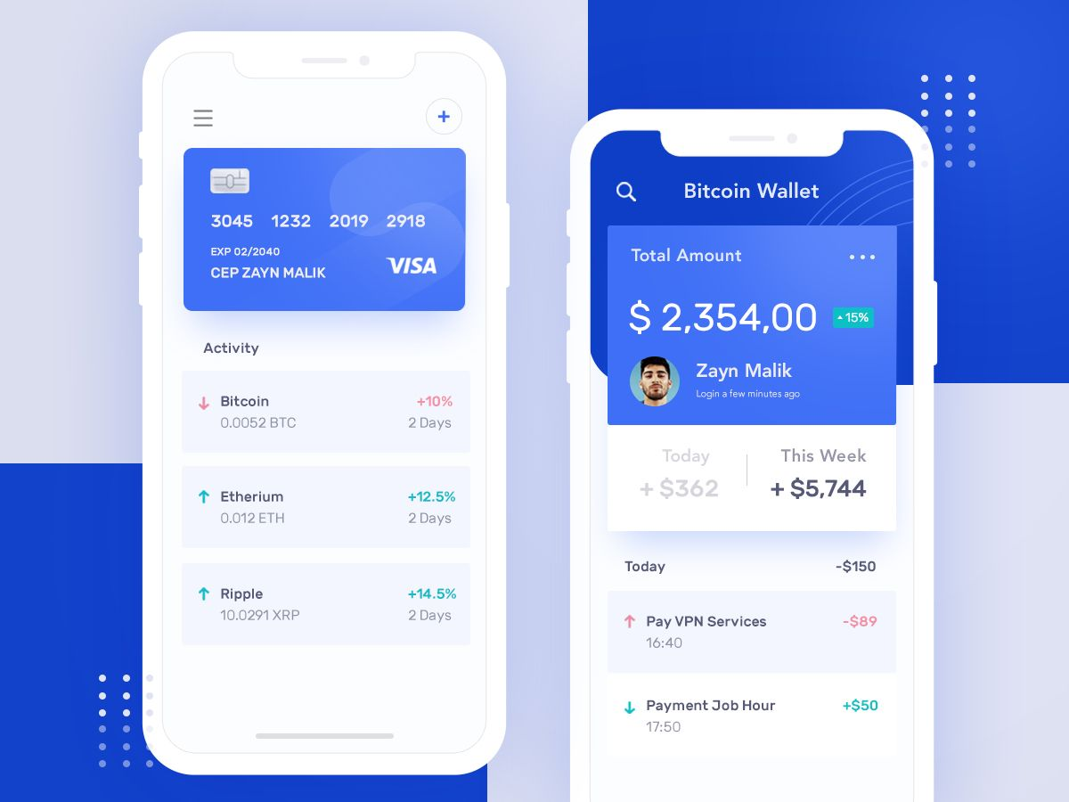 cryptocurrency wallet status ios apps