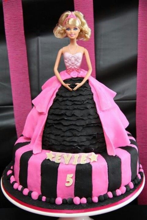 Barbie Doll Birthday Cake Pictures