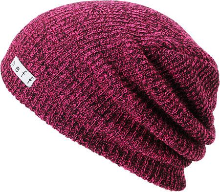 8c16da6a1be Neff Daily Heather Magenta   Black Beanie