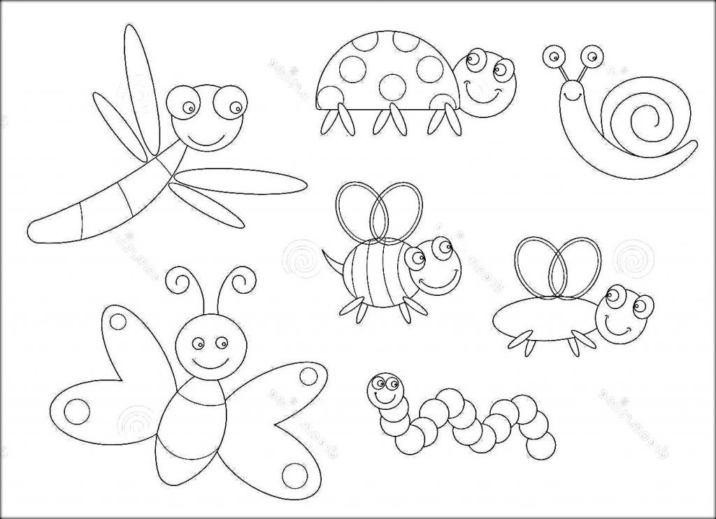Insects Coloring Pages Escuela