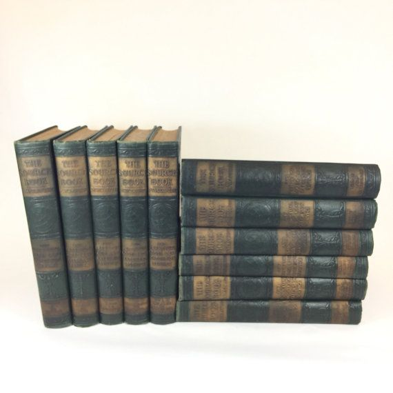The Source Book Encyclopedia Set 10 Volumes By Retroresalesandiego Encyclopedia Set Antique Bookshelf Books