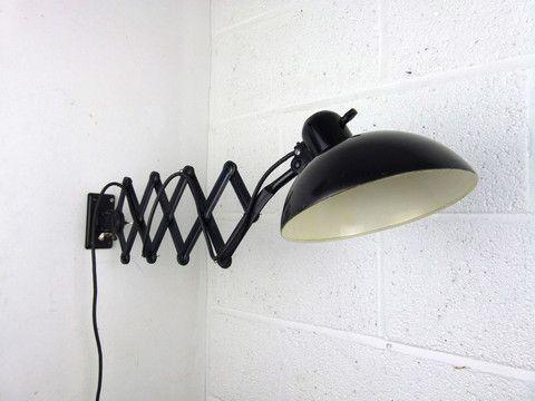 Bauhaus Kaiser Idell 6718 U0027Superu0027 Scissor Arm Wall Mounted Lamp