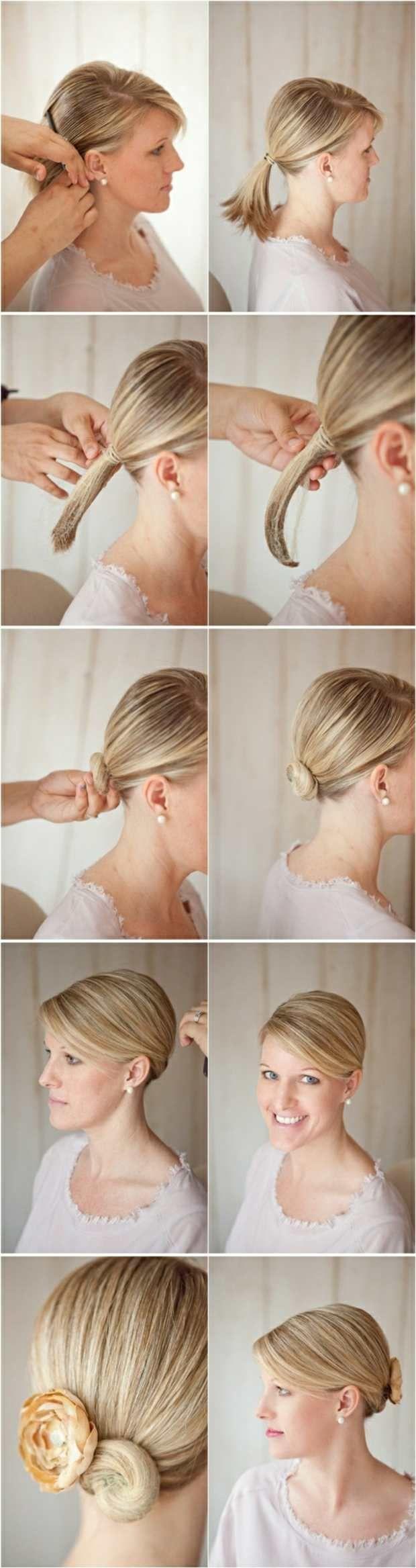 Hochzeit Frisur Selber Machen Hochsteckfrisur Papier Hair