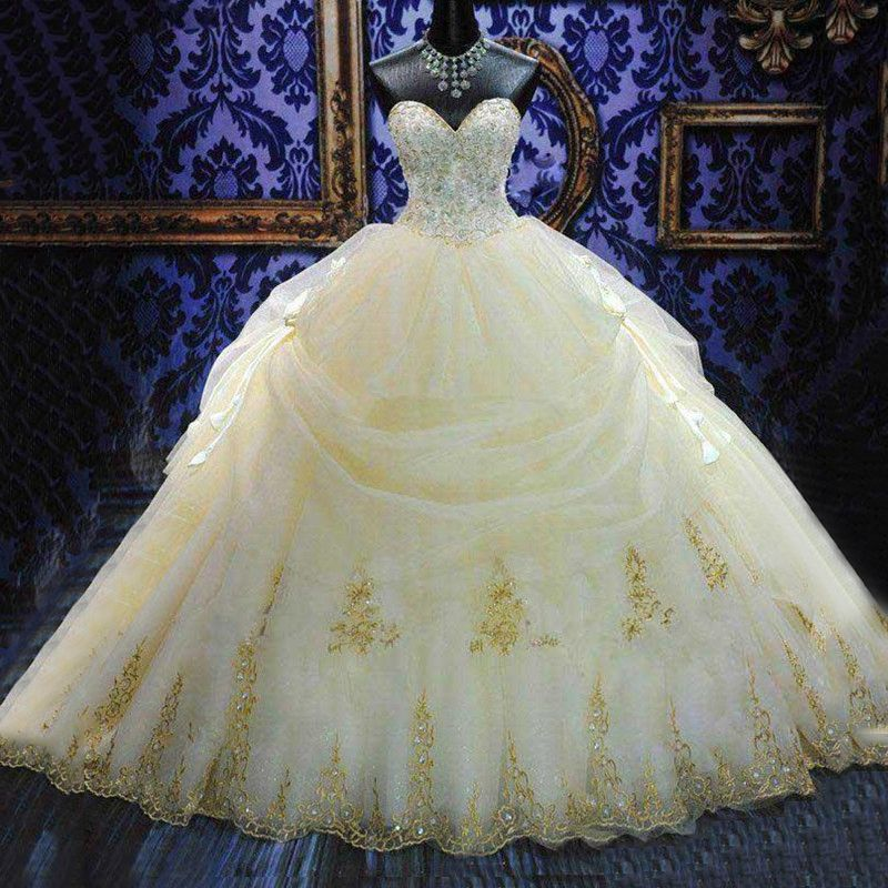 Beautiful Orange White Quinceanera Ball Gown Dress With Hand Beading And Lace Appliques vestido de 15 anos Party Dress