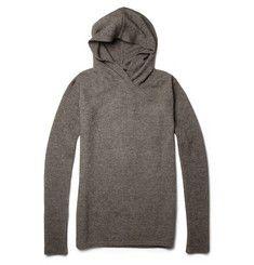 Rick Owens Contrast-Sleeve Merino Wool-Blend Hoodie | MR PORTER