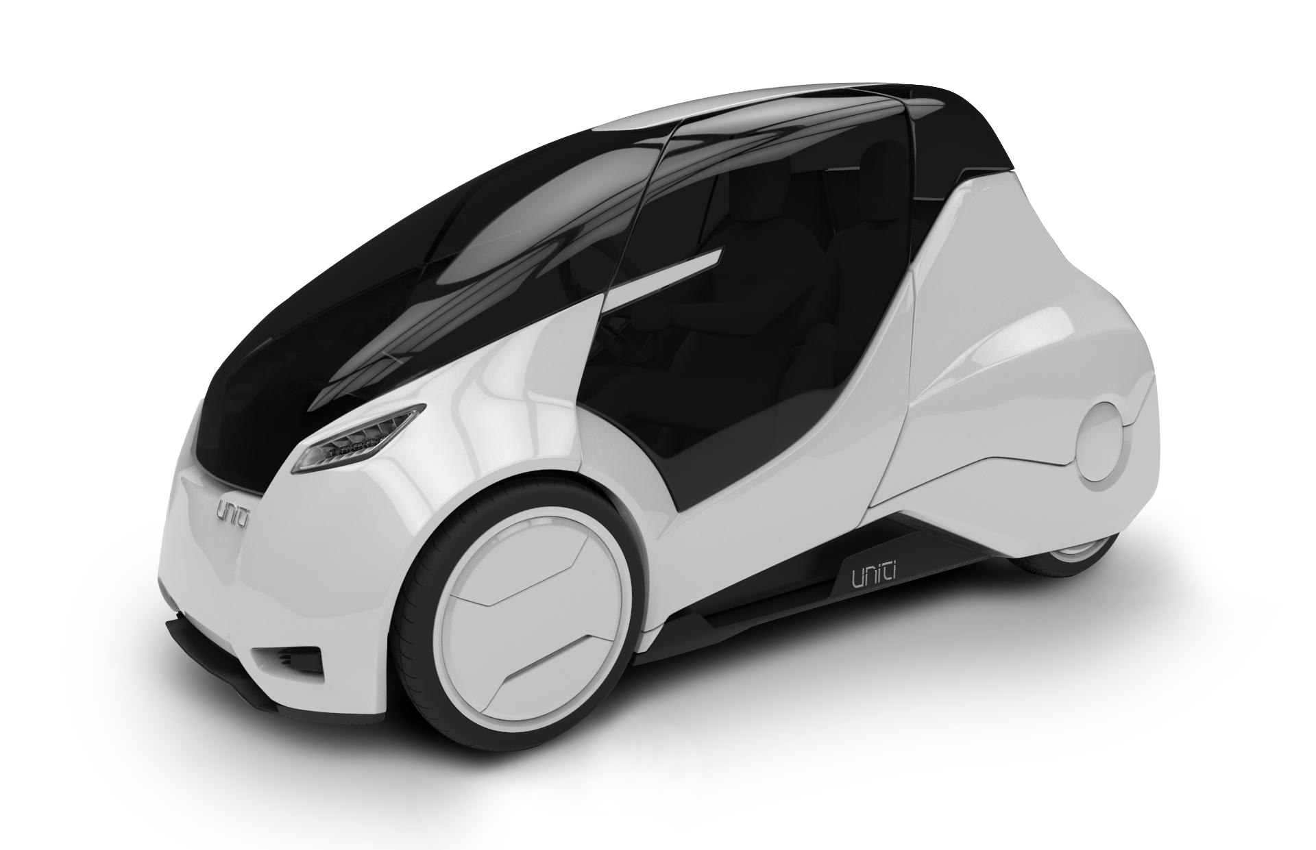 This is #UNITI, an all electric car - invented by a Swedish start-up ...