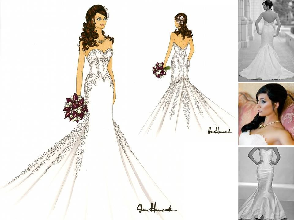 wedding dress designs drawings images