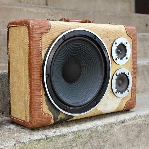 """Curious Provisions, """"Vintage Cases Transformed into Hi-Fi Stereos & More"""". Found on Shopify's New Stores Friday."""
