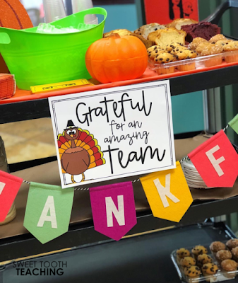 Eight Sunshine Committee Ideas & Freebies - Sweet Tooth Teaching #employeeappreciationideas