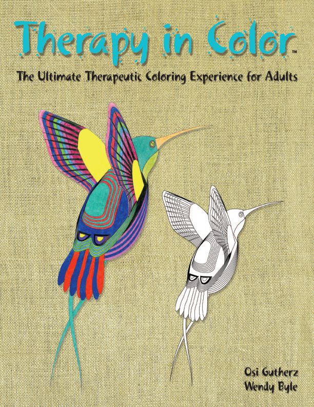 Therapy in color is a gigantic coloring book specifically designed for adults the idea