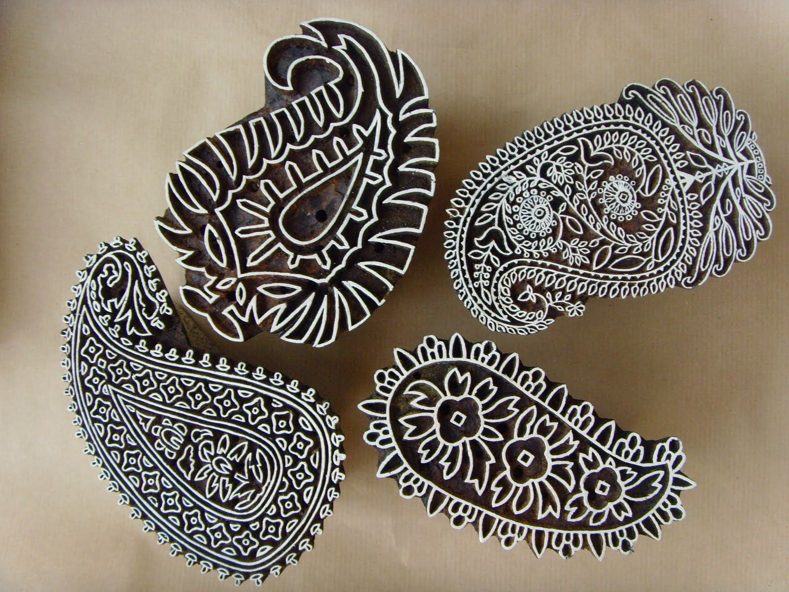 Christmas Designs Scandi Tree Hand-carved Large Indian Woodblock Stamp