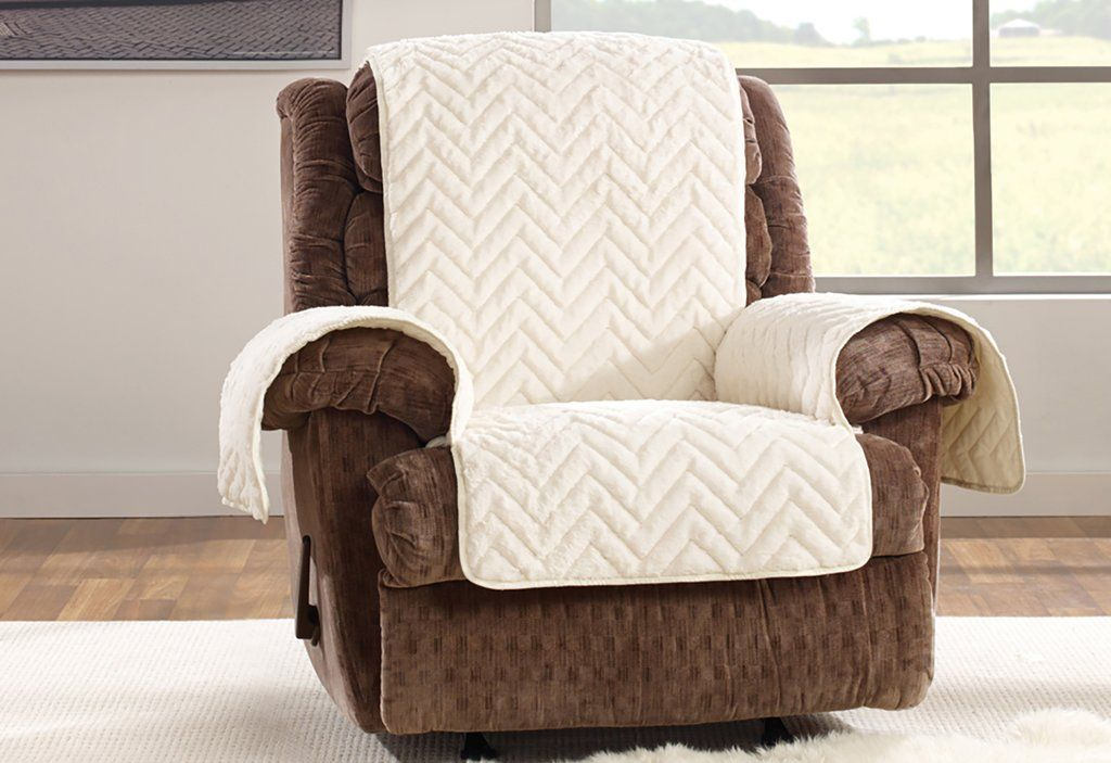 Amazing Faux Fur Chevron Recliner Furniture Cover Home Decor Gmtry Best Dining Table And Chair Ideas Images Gmtryco