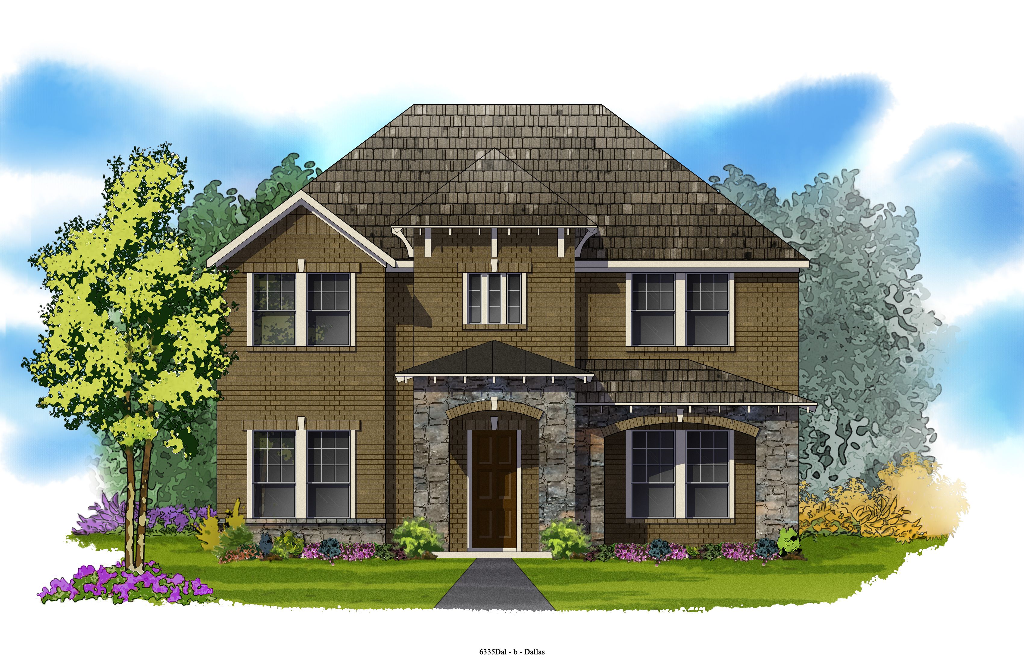 David Weekley Homes - Simone Elevation B 3,165 Sq. Ft. Viridian