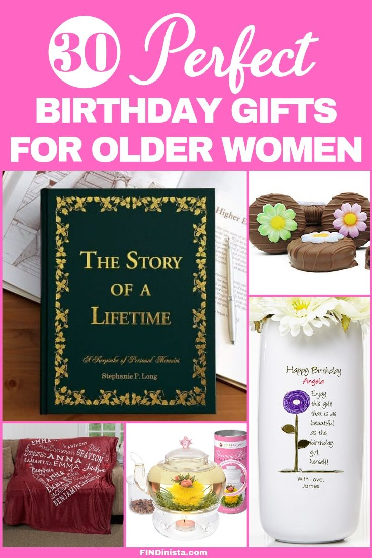 Birthday Gifts For Older Women 75th Birthday Gift Ideas