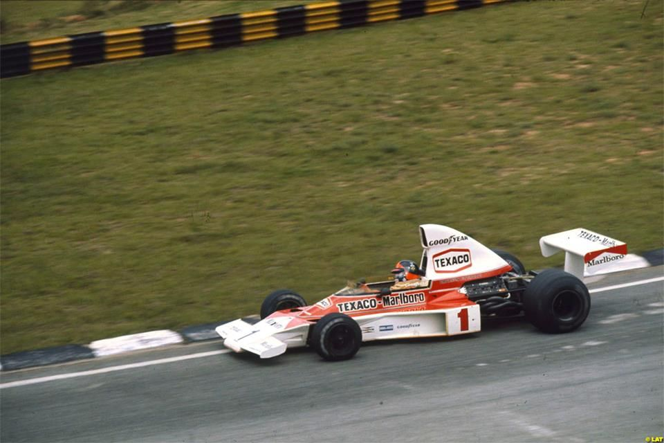 Emerson Fittipaldi (BRA) (Marlboro F1 Team McLaren), McLaren M23 - Ford Cosworth V8 Interlagos, 1975