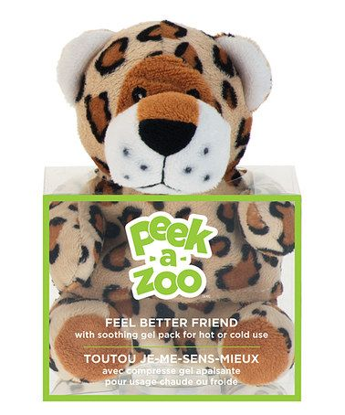 Take a look at this Leopard Feel Better Plush & Gel Pack by Peek-A-Zoo on #zulily today! $8 !!