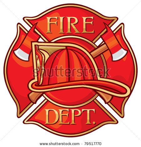Fire Department or Firefighters Maltese Cross Symbol by