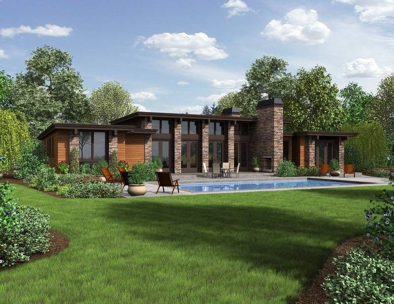 Hampton home plan boasts amazing outdoor patio rancher for Big ranch house