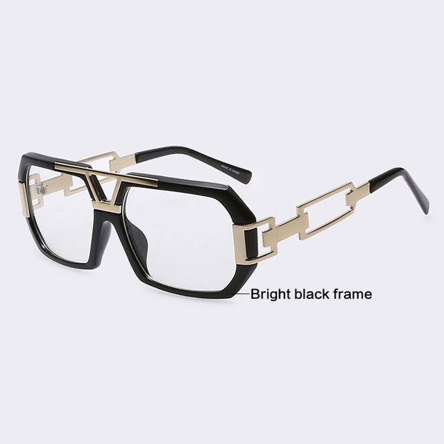 AOFLY Eyeglass Frames Retro Men Women Fashion Plain Eyeglass Spectacle  Square Frame Hollow Temples Glasses Frame 1c65850f7e