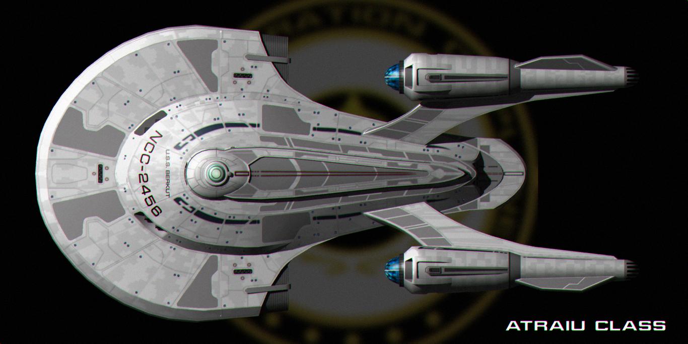 Atraiu Class Top Profile By Jetfreak 7 Star Trek Starships Star Trek Ships Starfleet Ships