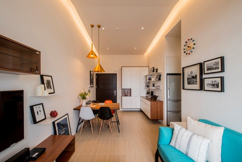 Living Room Design Ideas Singapore renovation | loft-inspired living in a small space. | renotalk