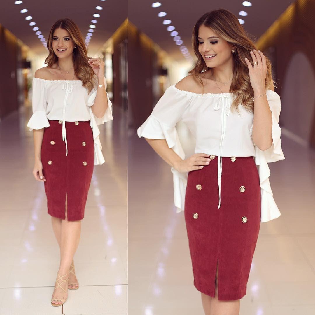 """Ariane Cânovas en Instagram: """"{Midi Style} Mira @cappuccinofashion enamorada de esta falda de ante con botones, muy chic, ¿no?  😍 • # lanzamiento launchappuccino # otoño-invierno… """"  – Moda"""