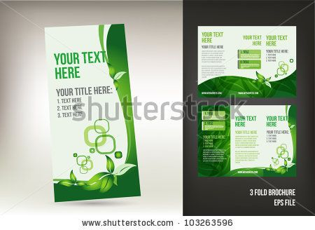 Eco green brochure template by natashasha, via Shutterstock - pamphlet sample