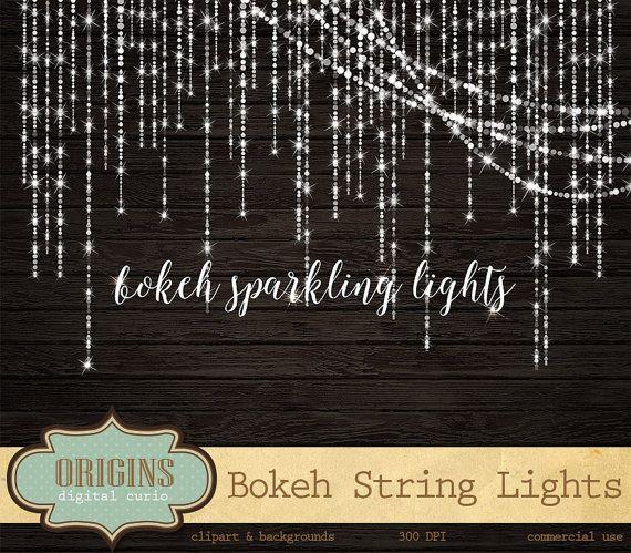 Bokeh Clipart Sparkling String Lights By OriginsDigitalCurio