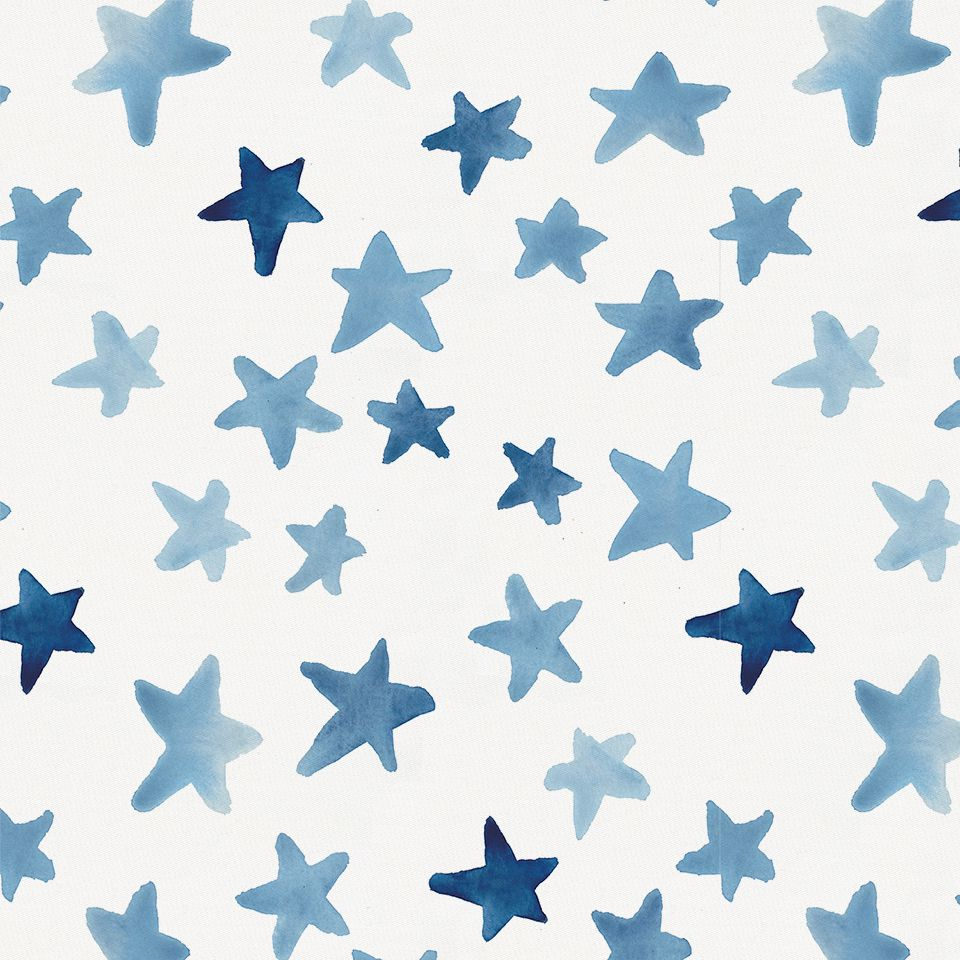Aesthetic Blue Background With Stars