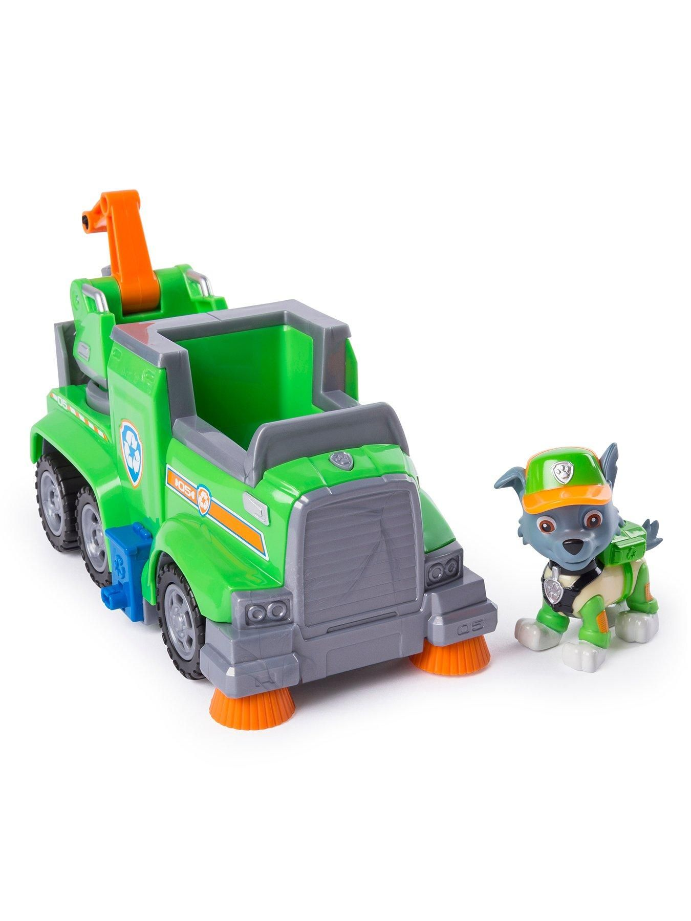 Paw Patrol Paw Patrol Ultimate Rescue Vehicle  Rocky, One Colour  One Colour  - Paw patrol toys, Rescue vehicles, Paw patrol, Paw patrol rocky, Zuma paw patrol, Toy trucks - Paw Patrol Paw Patrol Ultimate Rescue Vehicle  Rocky No job is too big, no pup is too small! Now you can join the Paw Patrol Pups on a Paw Patrol Mission! Just like in the show you can play along with the PAW Patrol pups  Whether there'a rescue mission in your backyard or you have to save Itty Bitty Kitty from a tree, you can race to the ruffruff rescue with the PAW Patrol! Age Range 3  12 years Warning Message Warning Not suitable for children under 3 years Bring home all the excitement