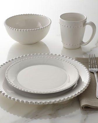 16-Piece Bianca Beaded-Edge Dinnerware & 16-Piece \