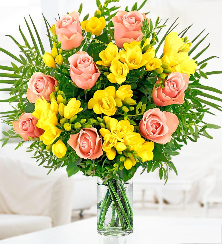 Rose And Freesia Prestige Flowers Flower Delivery Online Flower Delivery Freesia Flowers