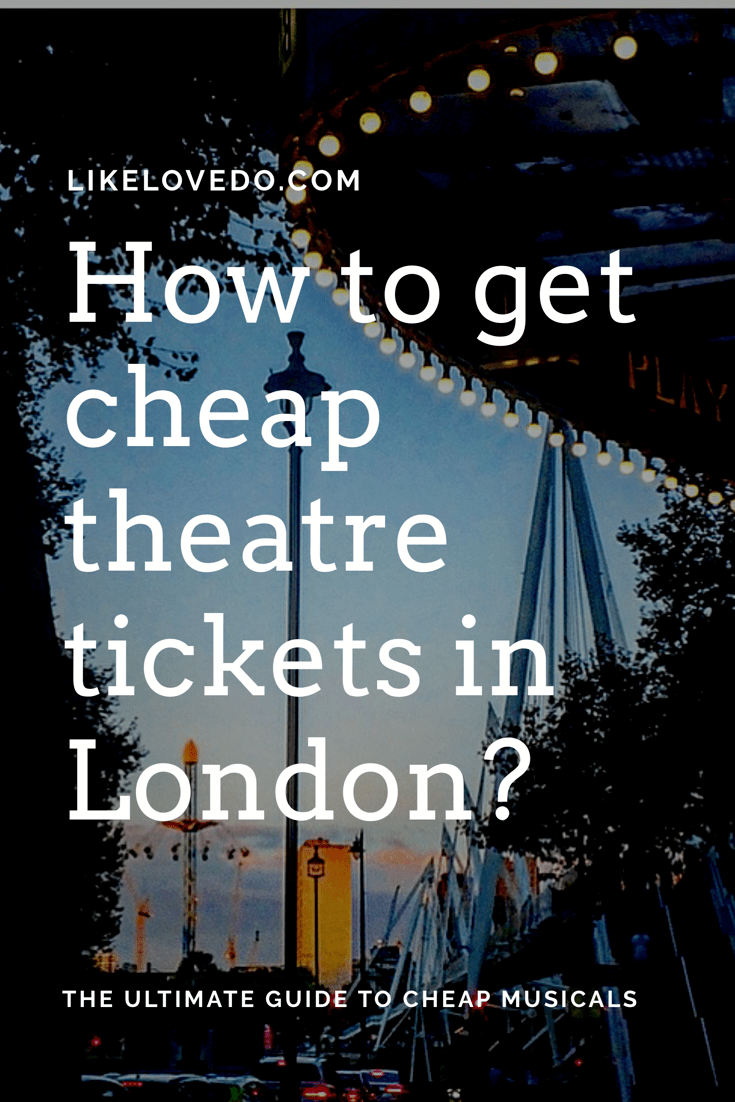 how to buy theatre tickets in london