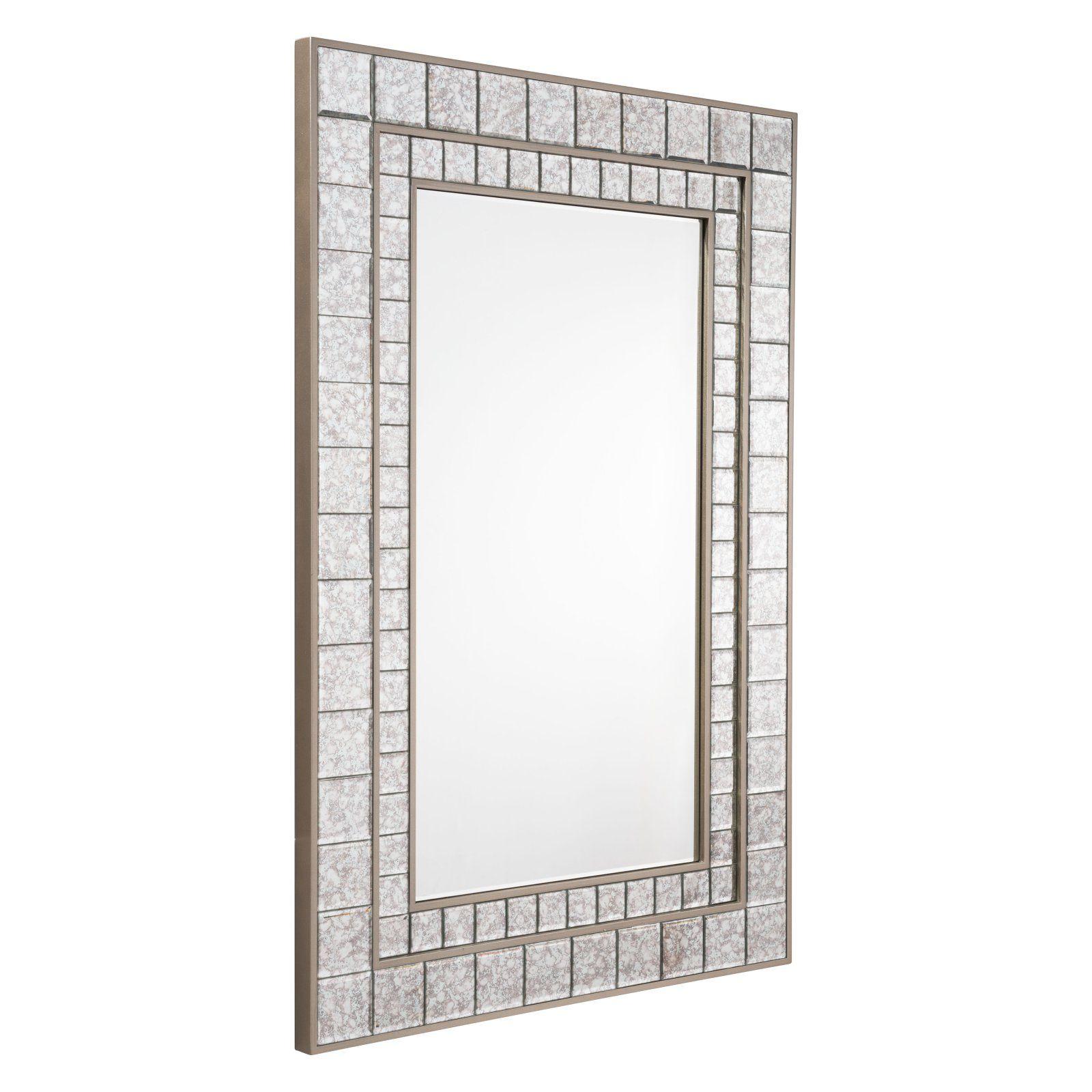. Zuo Modern Contemporary Antique Square Mini Mirror Framed Mirror