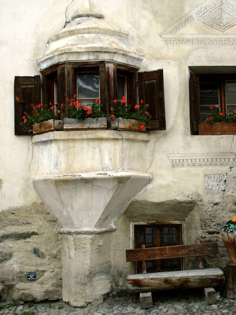 Unique windows, Guarda, Switzerland