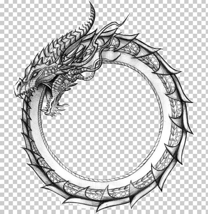 Ouroboros Dragon Symbol Jörmungandr Snake PNG - Free Download