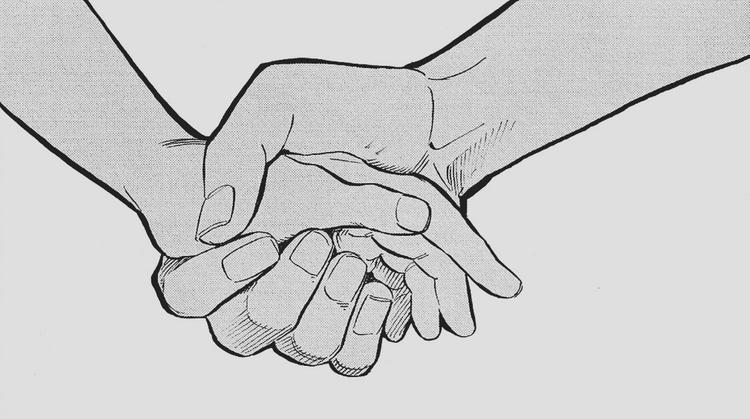 две руки держатся рисунки хранится память