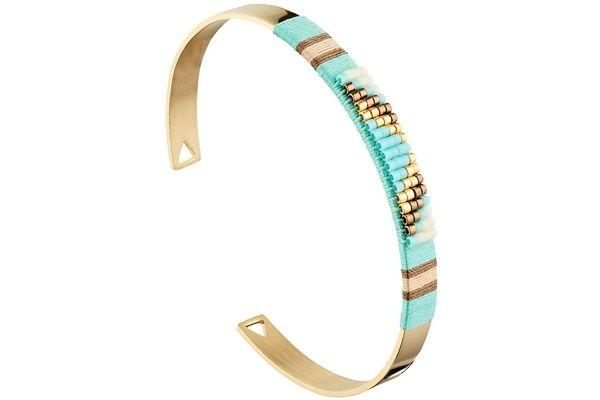 Bracelet manchette, dorure or jaune, Ø60mm Zag Bijoux