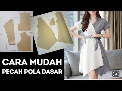 Cara Membuat Pola Baju Wanita Tutorial Pecah Pola Blus Gampang Banget Youtube Pembuatan Pola Pola Blus Membuat Baju