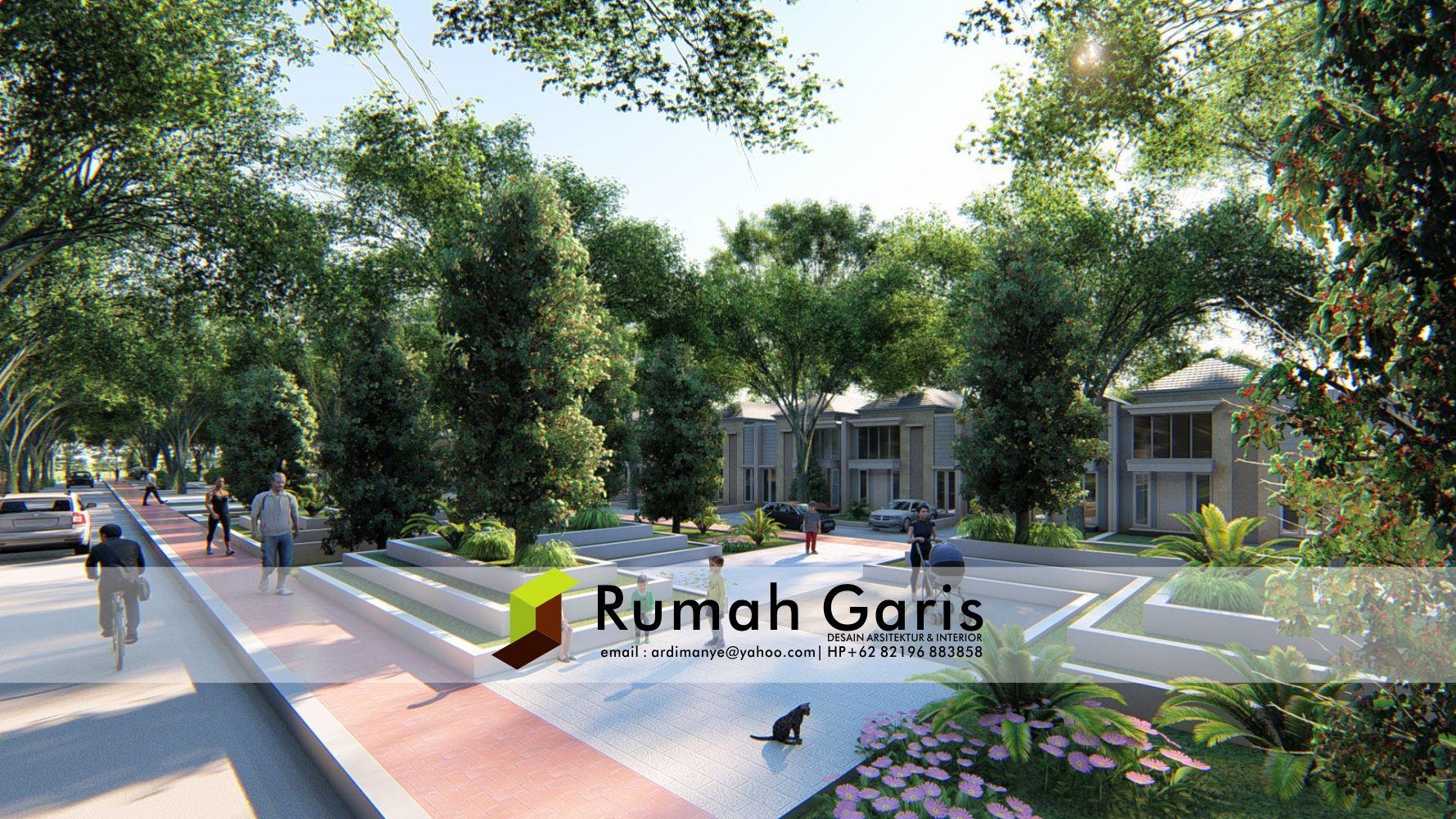 Permalink to Top 13+ Menarik Desain Taman Komplek