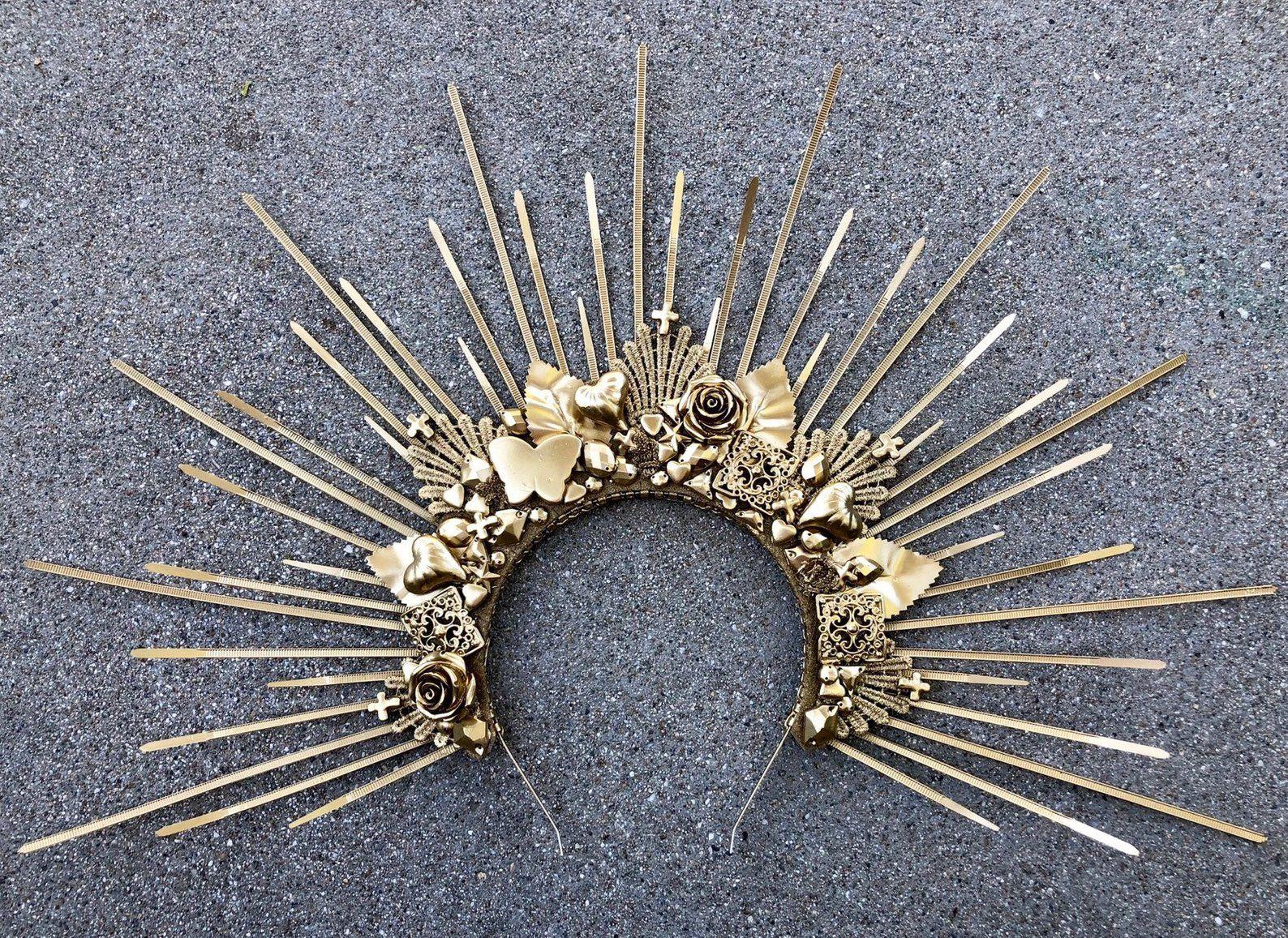 Halo Crown - Sunburst Crown - Embellished Customizable #crowntiara