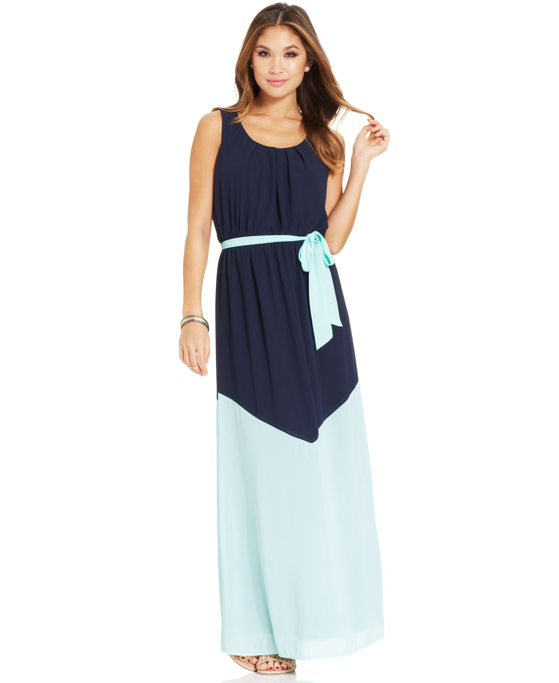 Bcx Juniorsu Colorblock Maxi Dress Products Pinterest Products