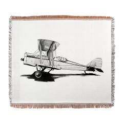 Beautiful vintage airplane in black and white Wove