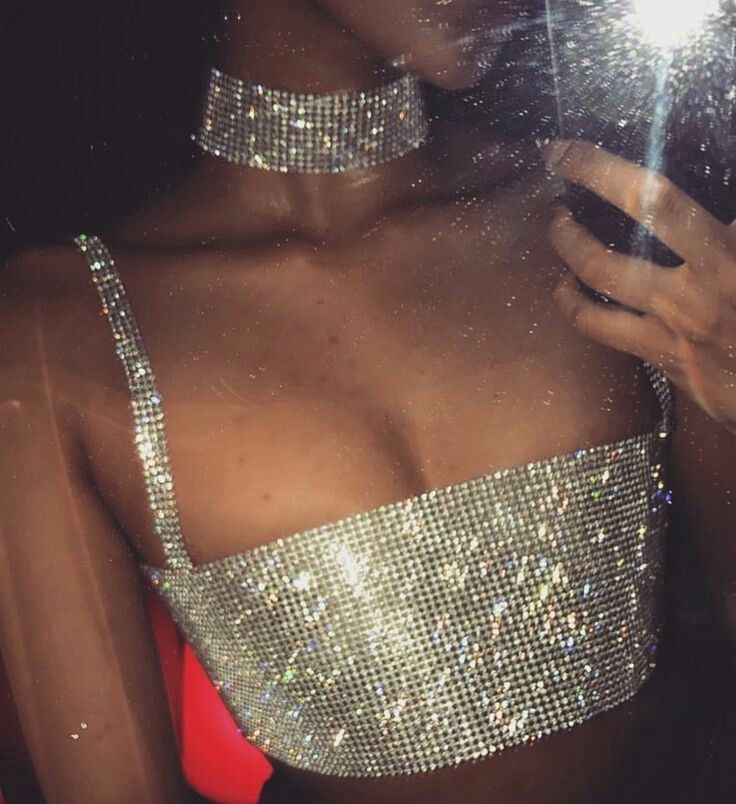 8d879486 Sexy Diamante Diamond Crystal Bling Sparkle Crop Cami Top Vest Bralet Beach  Club