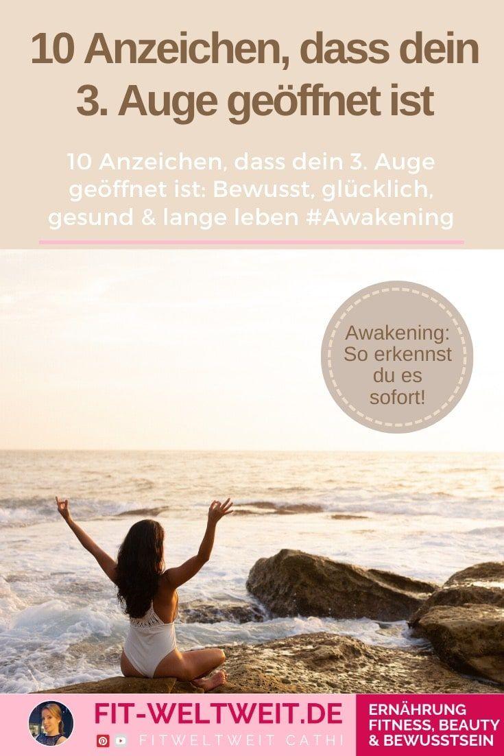 10 Anzeichen, dass dein 3. Auge geöffnet ist #Erleuchtung Lebst du bewusst? 10 Anzeichen, dass dein 3. Auge geöffnet ist #Awakening Jeder kann es lernen, sein drittes Auge zu öffnen und damit mehr zu fühlen und weniger zu denken.  Gefühle statt Rationalität. Gesünder, länger und glücklicher leben.
