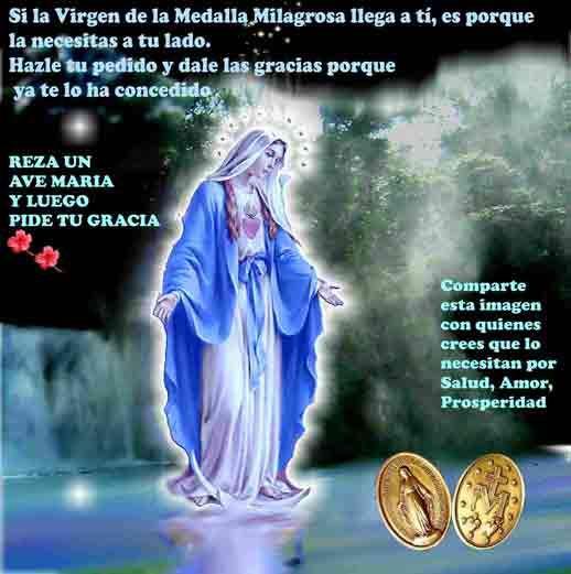 Virgen De La Medalla Milagrosa Altar Catolico Historia De La Virgen Oraciones Imagen Virgen Milagrosa
