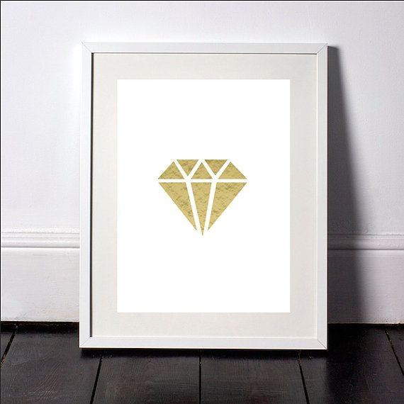 Gold Diamond Print Gold Diamond Wall Art Diamond Wall Print Black Diamond Art & Gold Diamond Print Gold Diamond Wall Art Diamond Wall Print Black ...