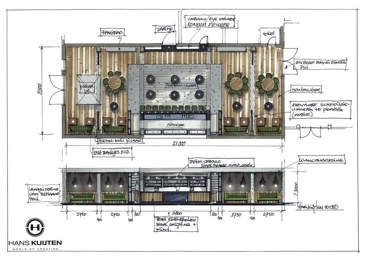 Hans Kuijten » Restaurant Design Restaurant plan