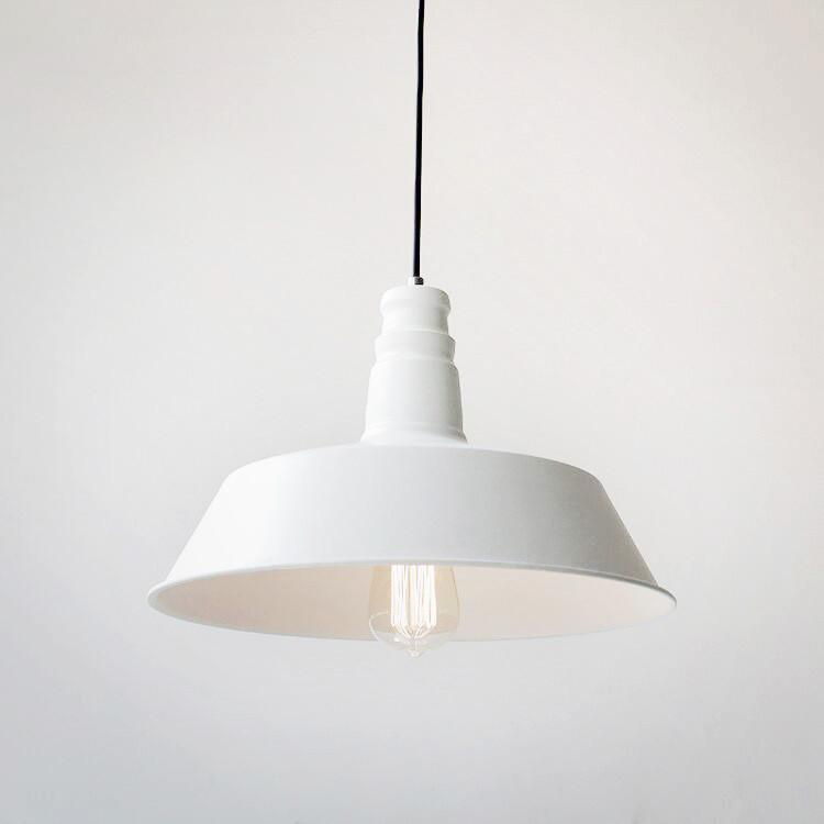 Vintage Industrial Pendant Light In White Colour Industrial